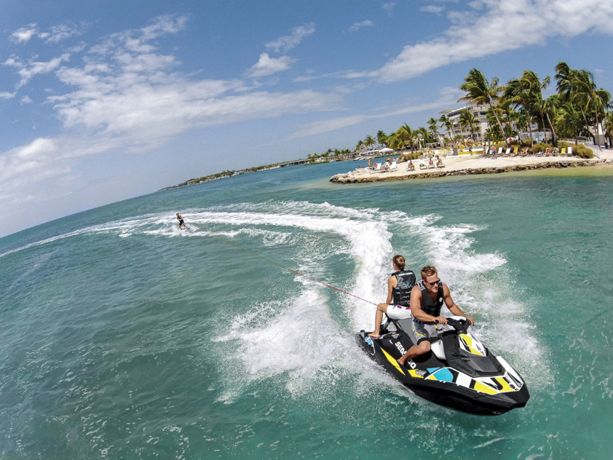 Sea-Doo's Spark is affordable and versatile and has the ability to tow a wakeboarder.