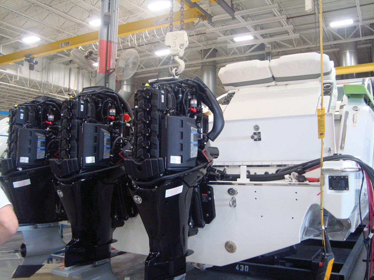 For the time being, at least, Formula is powering the boat exclusively with Mercury Verado engines.