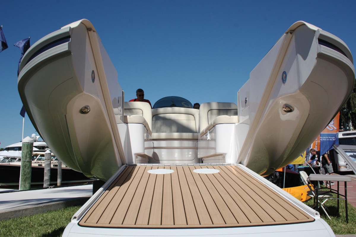 This tender is an example of the innovative boats the show attracts.