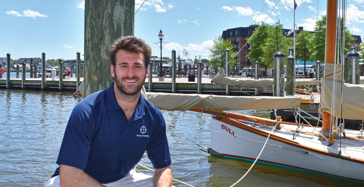 Alex Nicholson grew up boating in Annapolis, and worked at his family's business, Fawcett Boat Supplies.