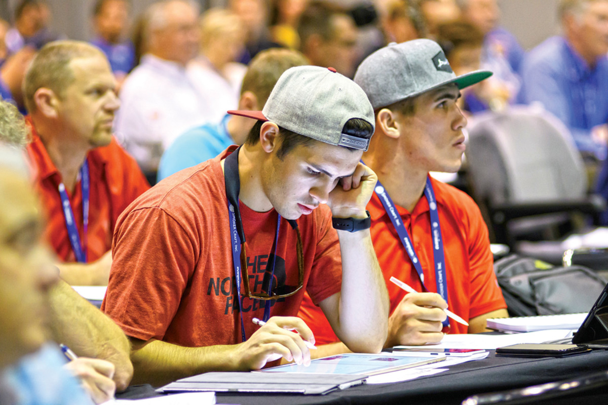 Young industry professionals are shown in education classes at the 2016 Marine Dealer Conference & Expo.