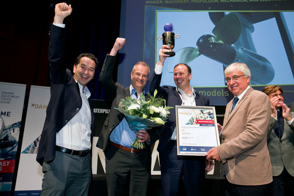 Torqeedo GmbH won the overall DAME award for its Cruise FP range of electric saildrives.