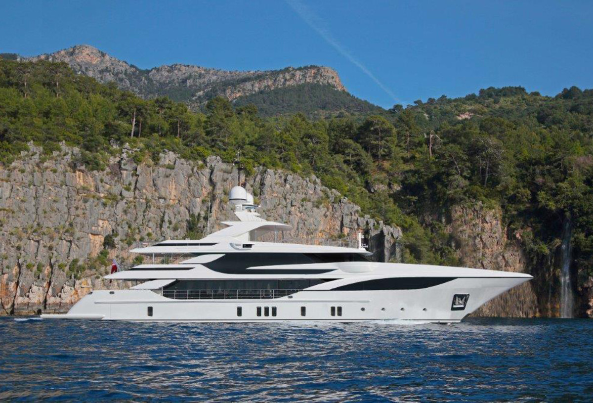 The Benetti FB703, shown in this rendering, is expected to be delivered in June 2019.