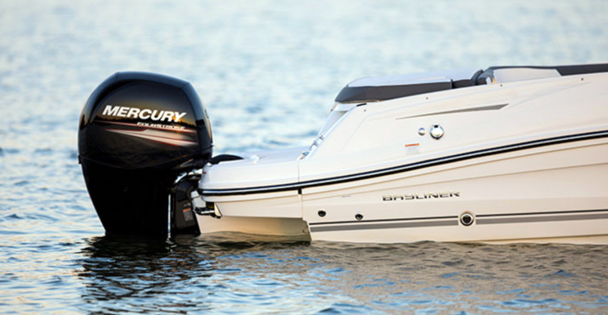 Bayliner is offering Mercury Marine outboards as options on its VR5 and VR6 models.