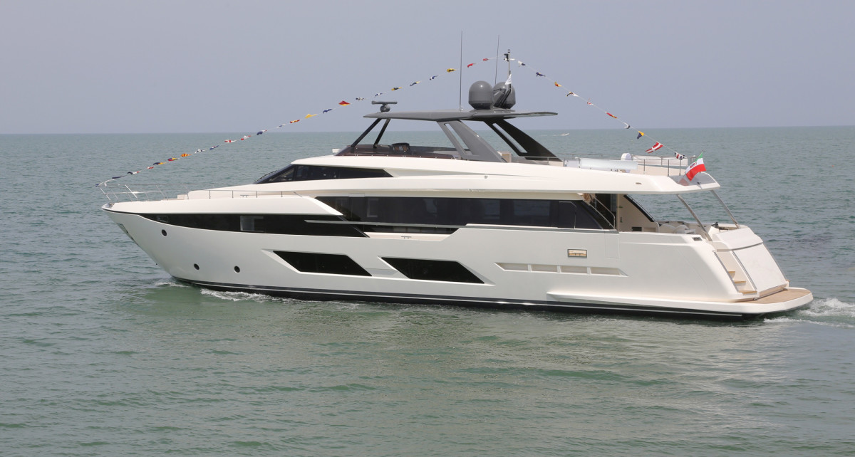 The Ferretti Yachts 920 will make its international public debut at the Sept. 12-17 Cannes Yachting Festival.