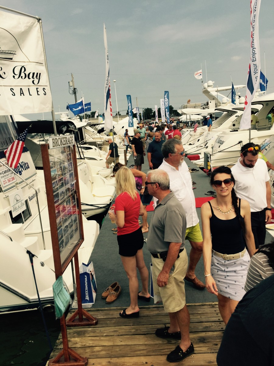 Organizers said more than 12,000 boaters from Ohio, Michigan, Indiana and Pennsylvania annually attend the show.