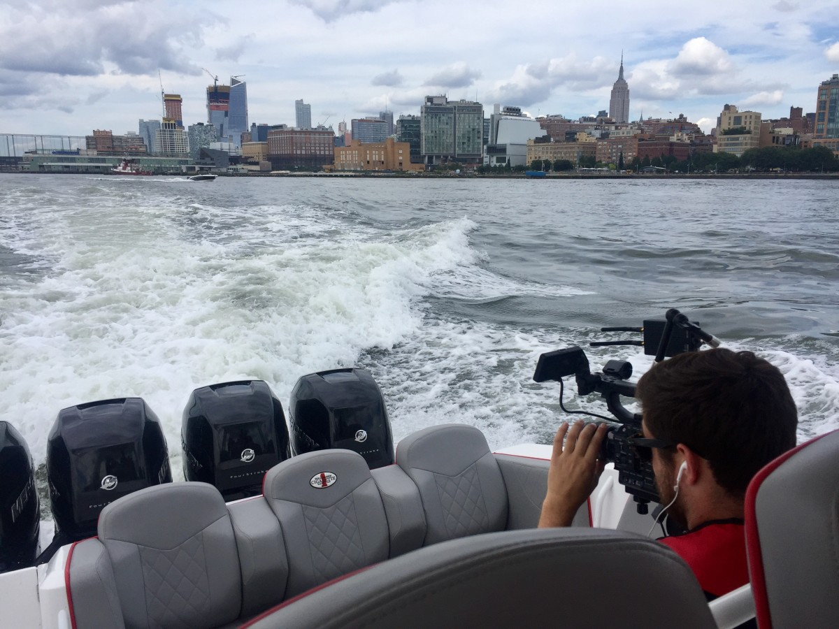Mainstream and boating media gathered Tuesday at a Mercury Marine event in New York that was designed to share the industry and the recreation with the non-boating public.