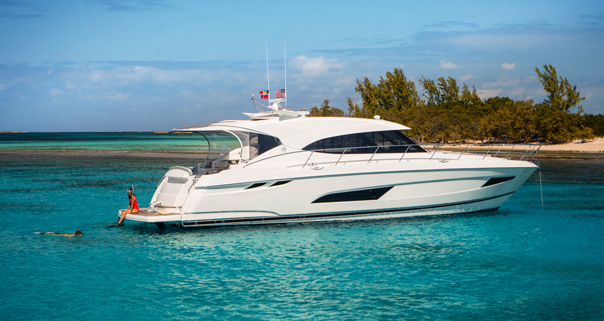 The Riviera 5400 Sport Yacht is one of the new models Legendary Marine will have available.