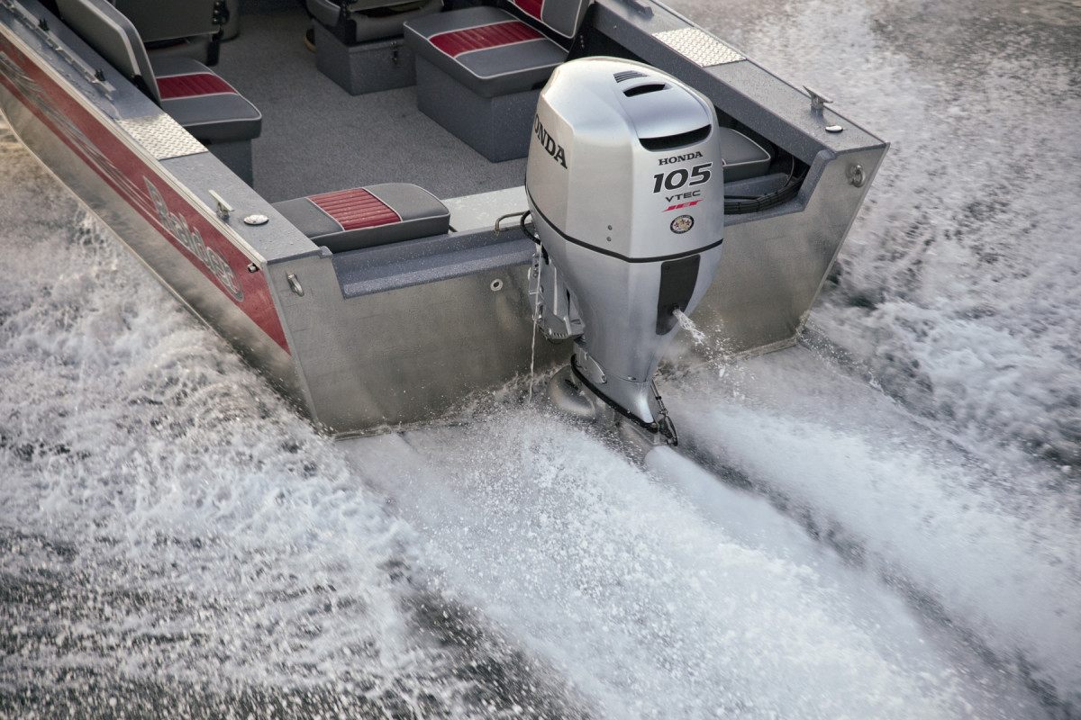 The 105 Jet is one of three new Honda outboards with jet propulsion
