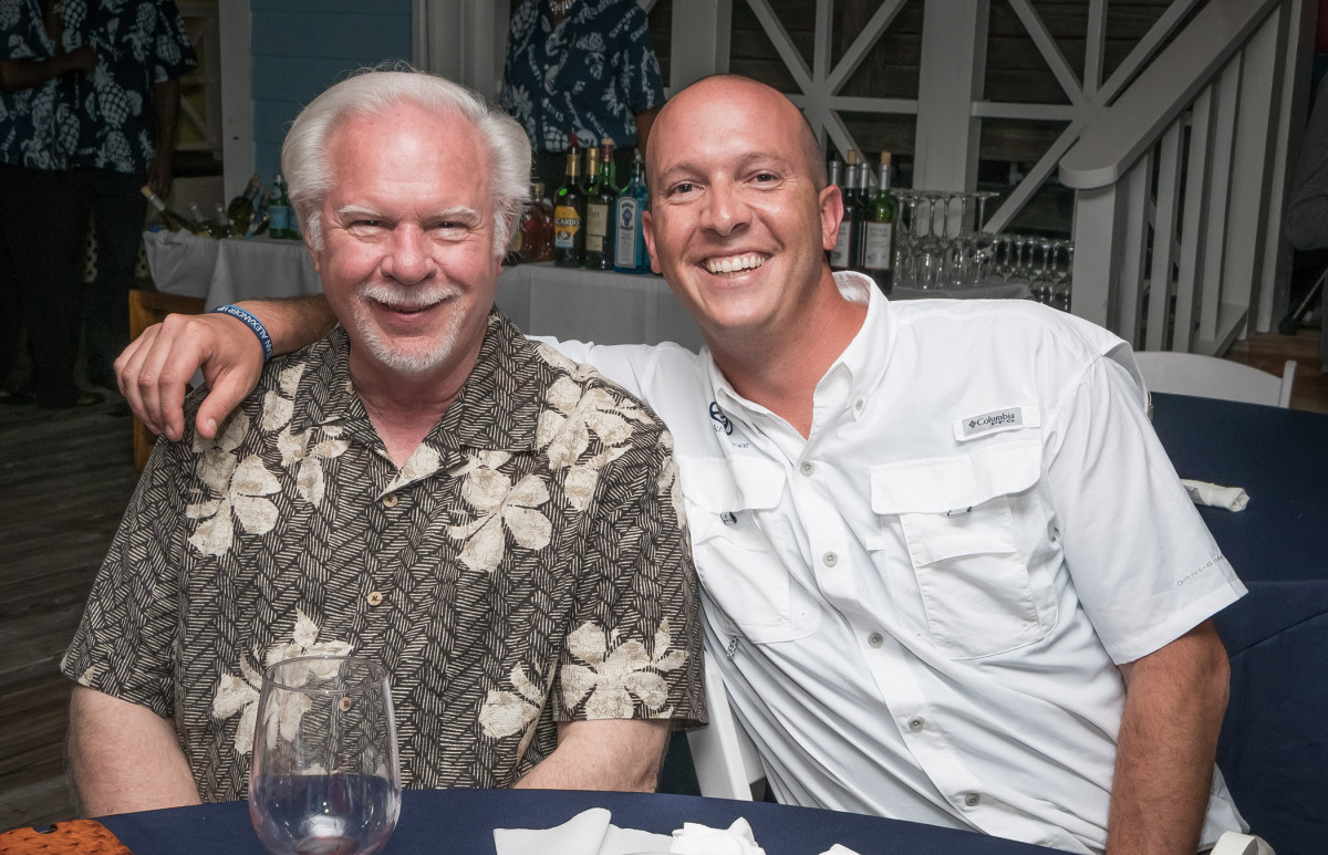Richard Allender (left), director of U.S. operations for Alexander Marine International, is shown with Justin Abernethy, the new vice president of operations in Fort Lauderdale.