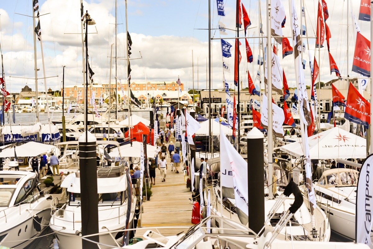 The Newport show provides visitors from around the world a venue to see the latest boats and product offerings from hundreds of manufacturers and dealers, including dozens debuting for the first time in the United States.