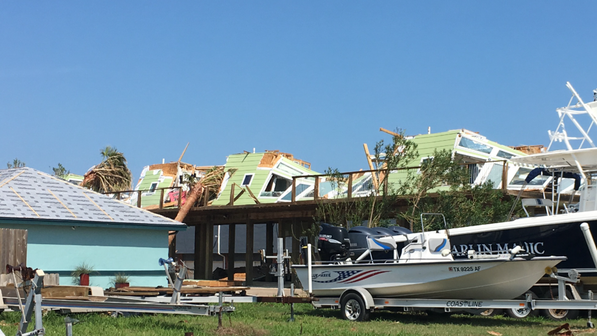 Photo of Boaters who performed rescues during Hurricane Harvey and subsequent floods were still busy trying to get storm survivors food and shelter