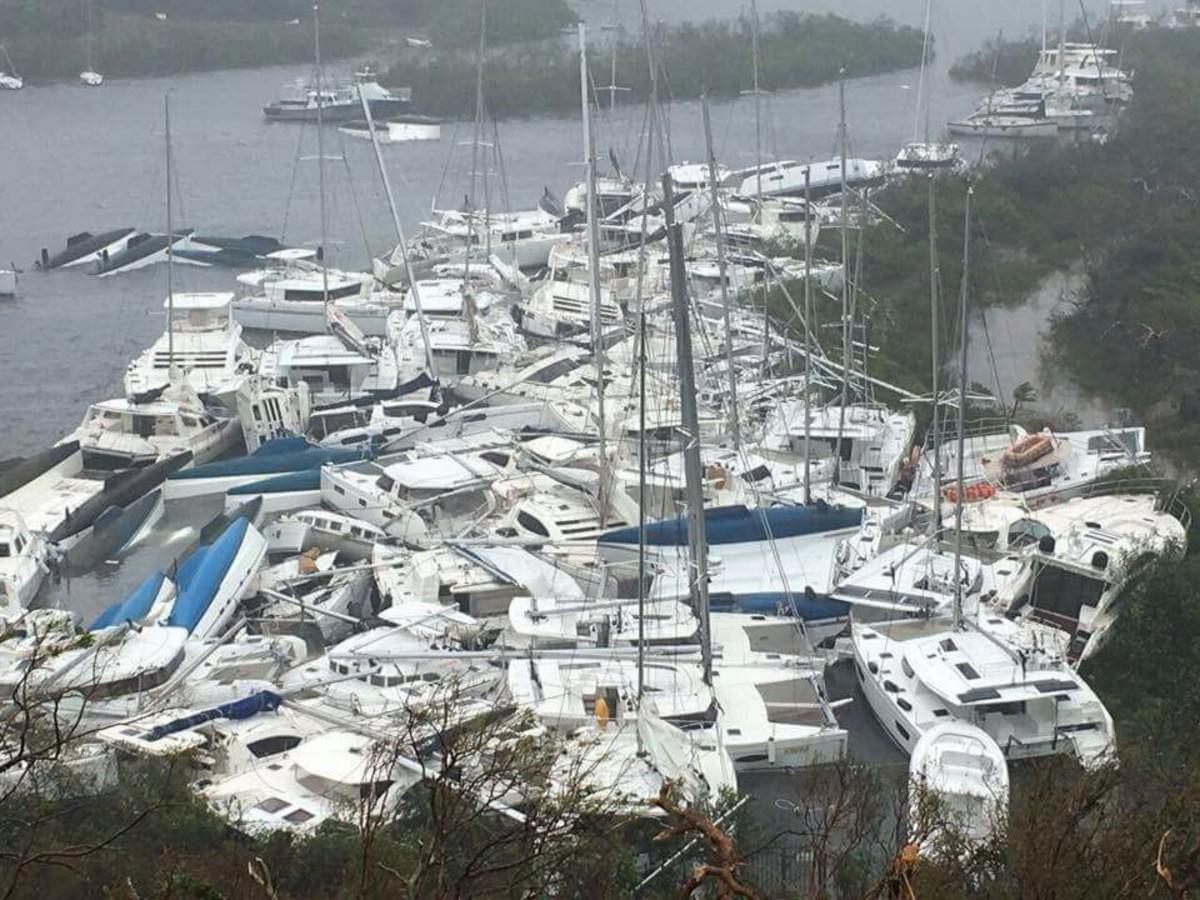 Hurricane Boat Pile up photo