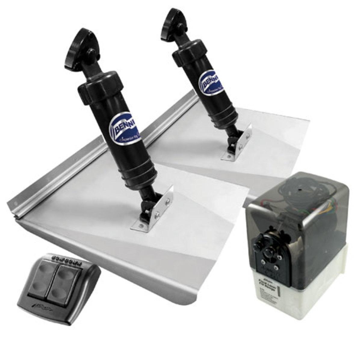 Bennett hydraulic trim tab photo