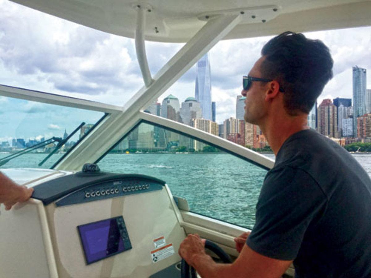 Clifford Atiyeh drives Boston Whaler