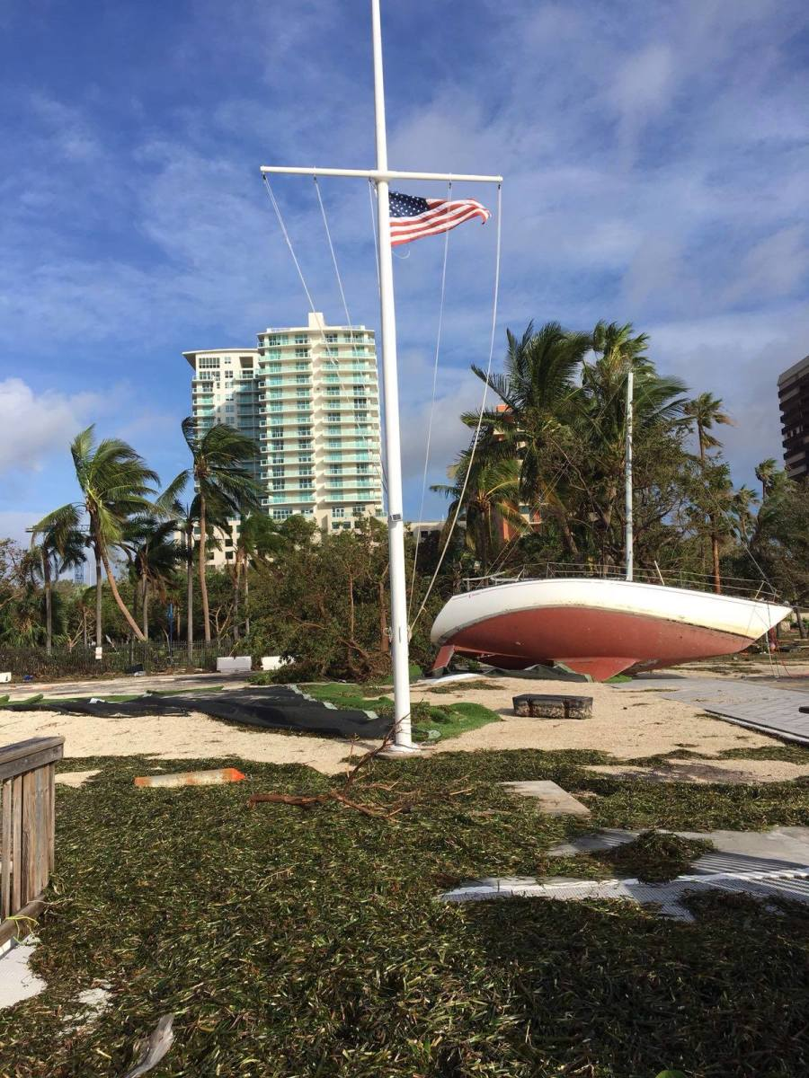 Coconut Grove sailing club photo after Irma