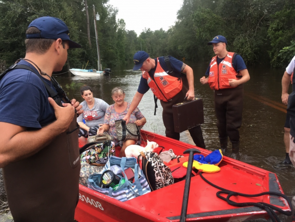 Photo of Coast Guard Flood Punt Teams conduct rescue operations in Jacksonville, Fla