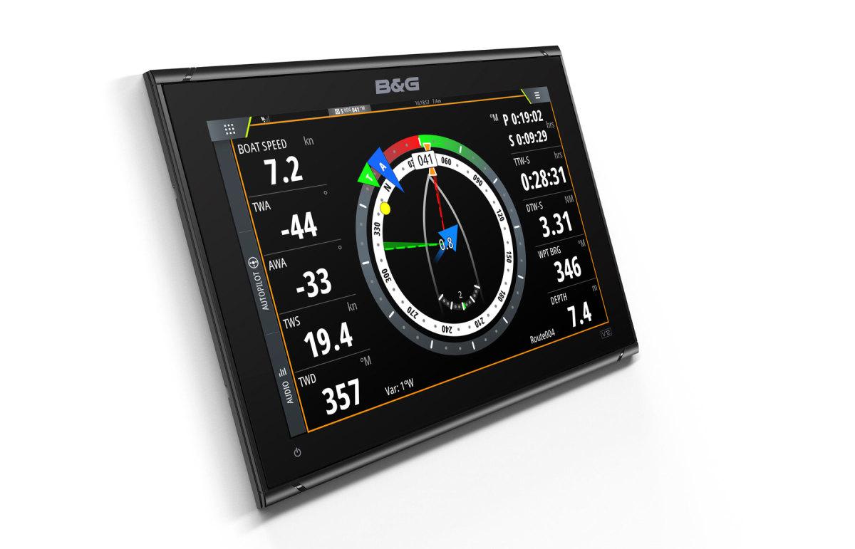 The B&G Vulcan 12 and Vulcan 7 (below) are dedicated sailing chart plotters.