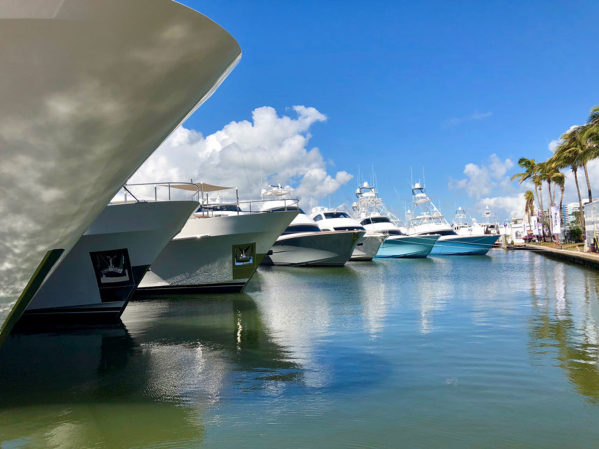 Exhibitors were pleased with the sales and leads at the Miami Yacht Show.