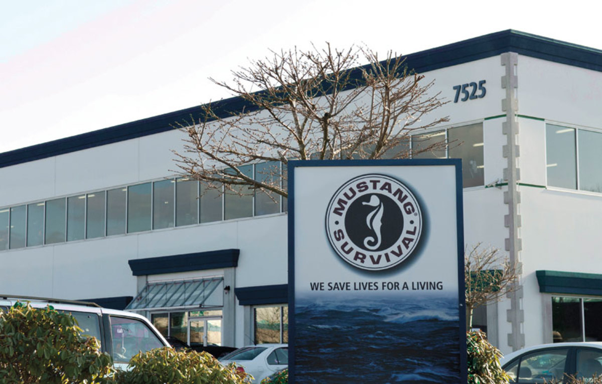 Mustang Survival's headquarters occupy 50,000 square feet in Burnaby, British Columbia.