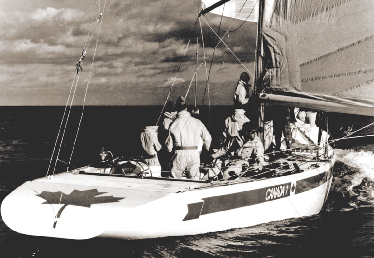 In 1983, the crew of Canada 1 wore Mustang gear in the America's Cup.