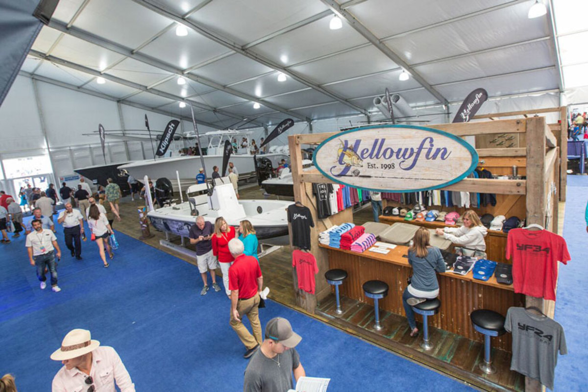 Yellowfin and other exhibitors in the tents appreciated the upgraded air conditioning.