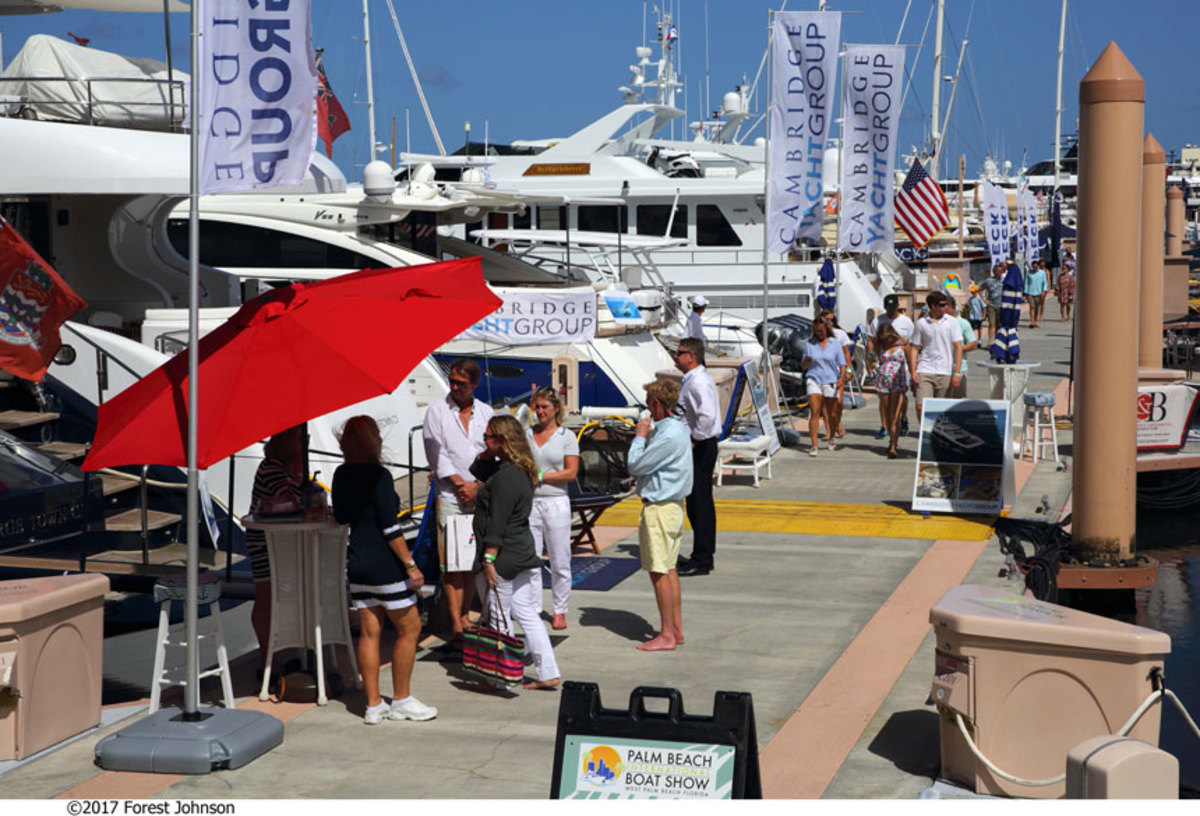 The Palm Beach International Boat Show returns this week on Flagler Drive in downtown West Palm Beach.