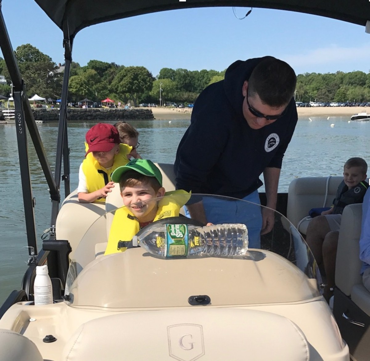 Friends of Hingham Touch A Boat event during the 2017 Massachusetts Kids Boating Day.