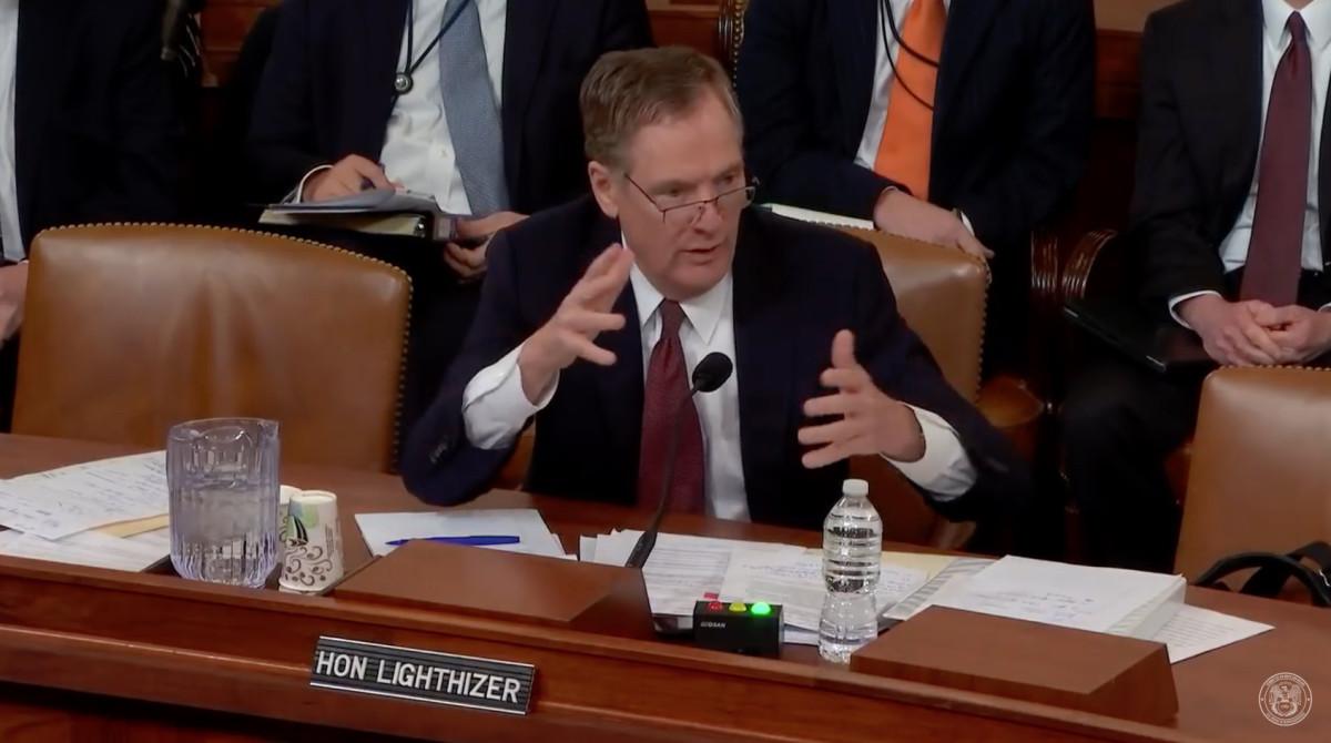 U.S. Trade Representative Ambassador Robert E. Lighthizer heard testimony on tariffs last week.