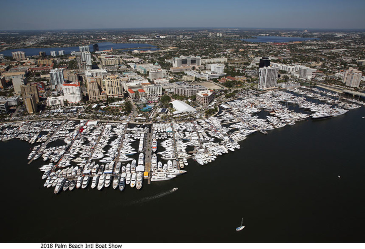 The number of boats on display at the 2018 Palm Beach International Boat Show increased 12.5 percent since 2015.