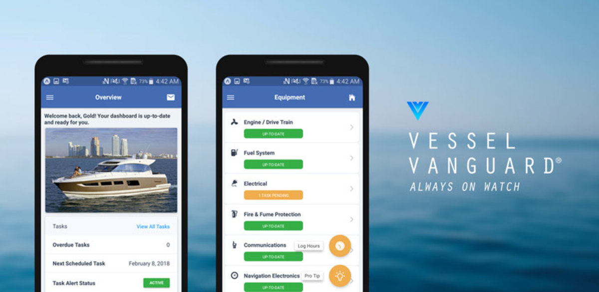 The new VesselVanguard App offers streamlined access to boat profiles.
