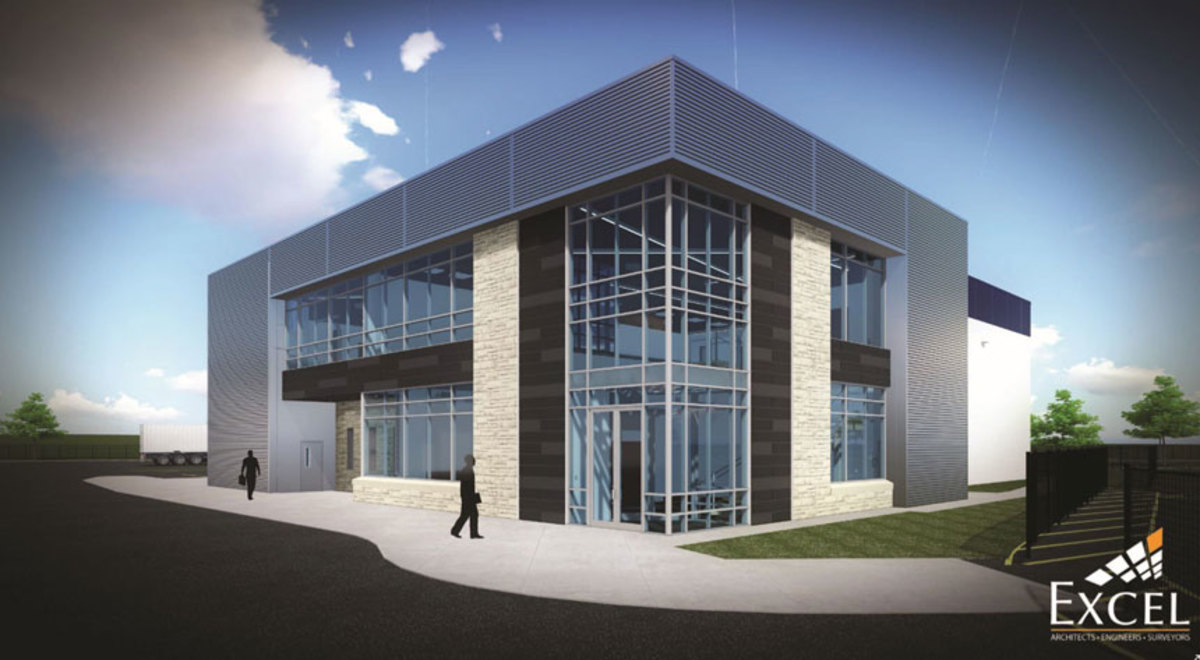 A rendering of the new facility