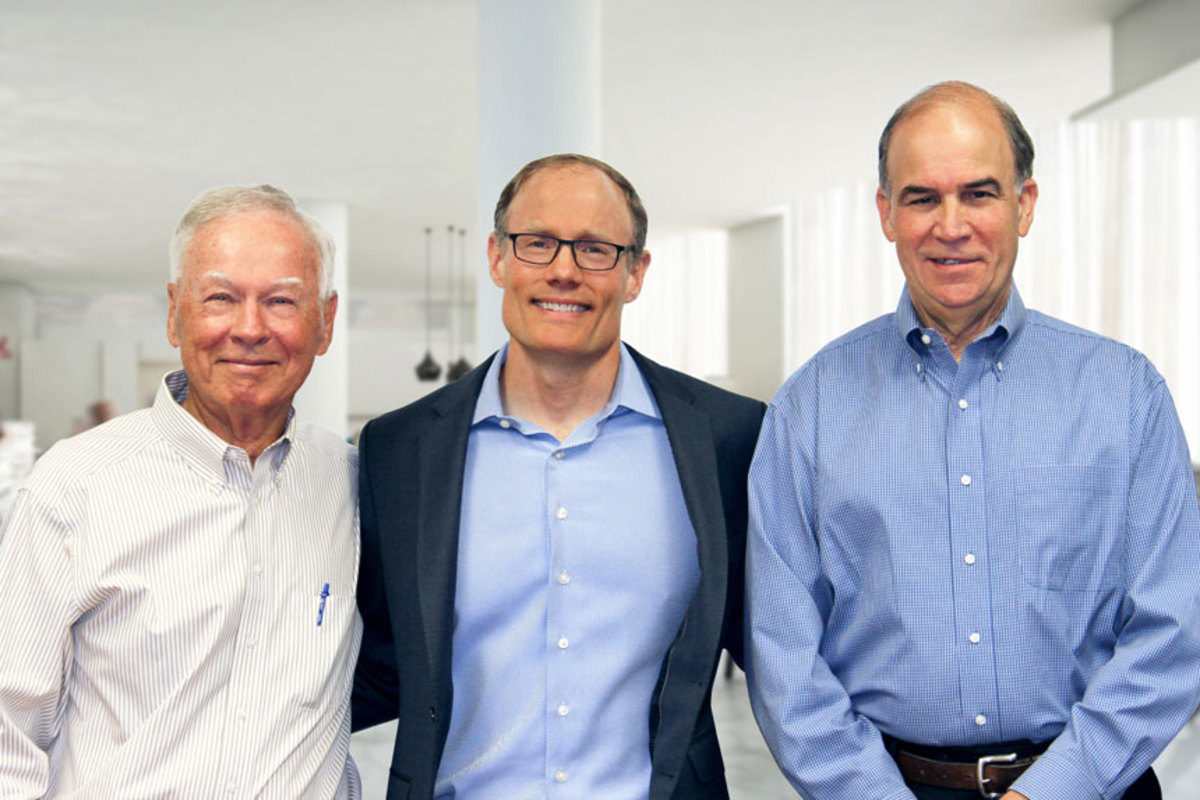 The new ownership team, pictured from left to right: Shep McKenney, cofounder and chairman of the board of directors; Larry Gies, Madison Industries president and CEO; and John Adams, cofounder and board member