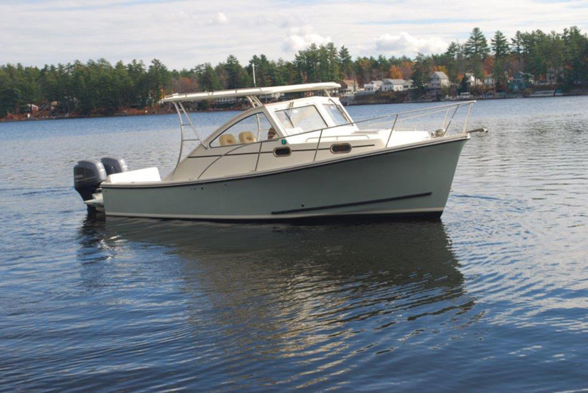 The Seafarer 27 is the largest of the 11 Seaway models that Yarmouth Boat Yard will carry.