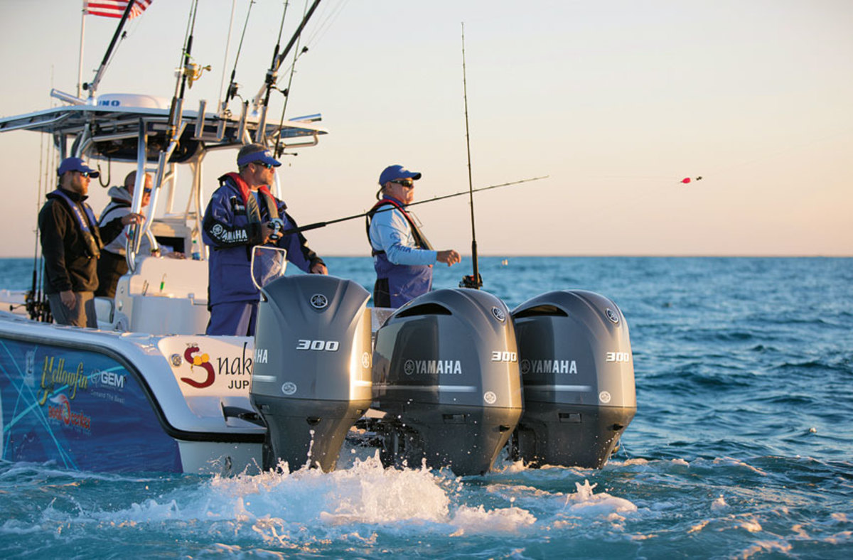 Yamaha's Helm Master system uses satellite guidance to keep a boat on station rather than setting an anchor.