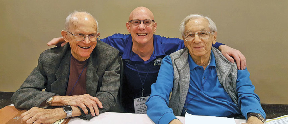From left, Strang,  Jeff Brewster and Edgar Rose at the APBA annual conference last January.