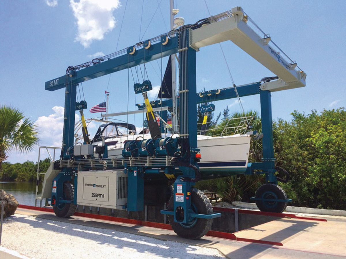 When it comes to mobile boat hoists, Marine Travelift is the only game in town.