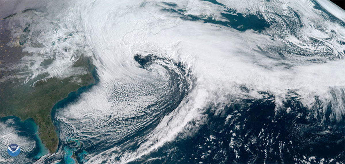 Nor'easters like this one ravaged the East Coast of the U.S. multiple times in early 2018. Photo courtesy of NOAA.