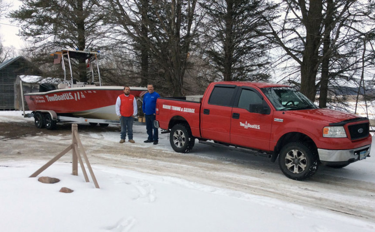 With boating season just around the corner, Dean Lamke (L) and Capt. Jeff Lorass (R) are ready to assist local boaters on Lake Minnetonka.