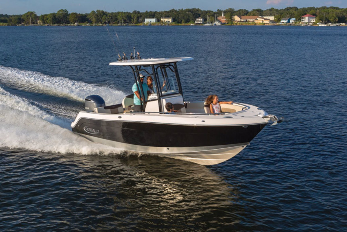 Sales of larger boats like Robalo's 242 Explorer center console helped boost earnings for the company.