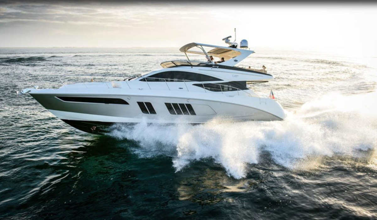 As consumers contemplate the brand's fate, sales of larger models like this L650 Fly have slowed, according to MarineMax CEO