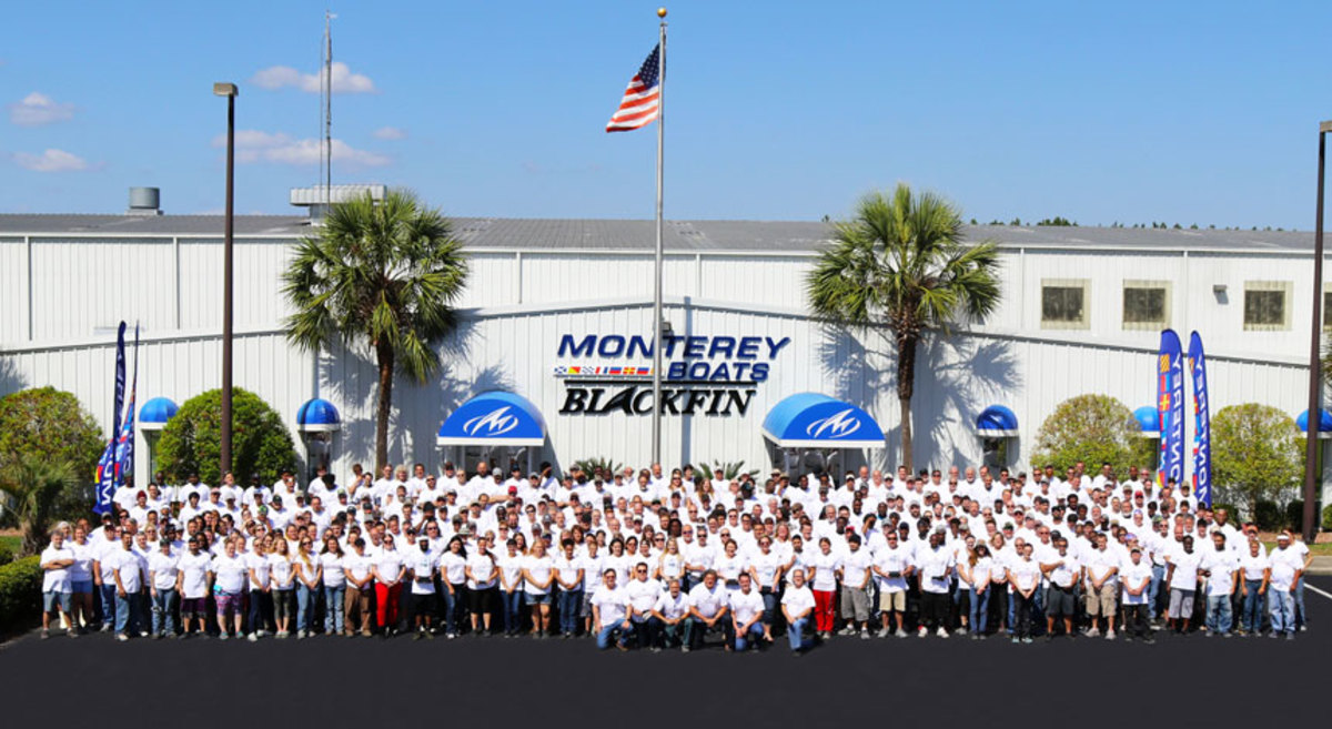 Monterey Boats treated employees after winning CSI awards in every category