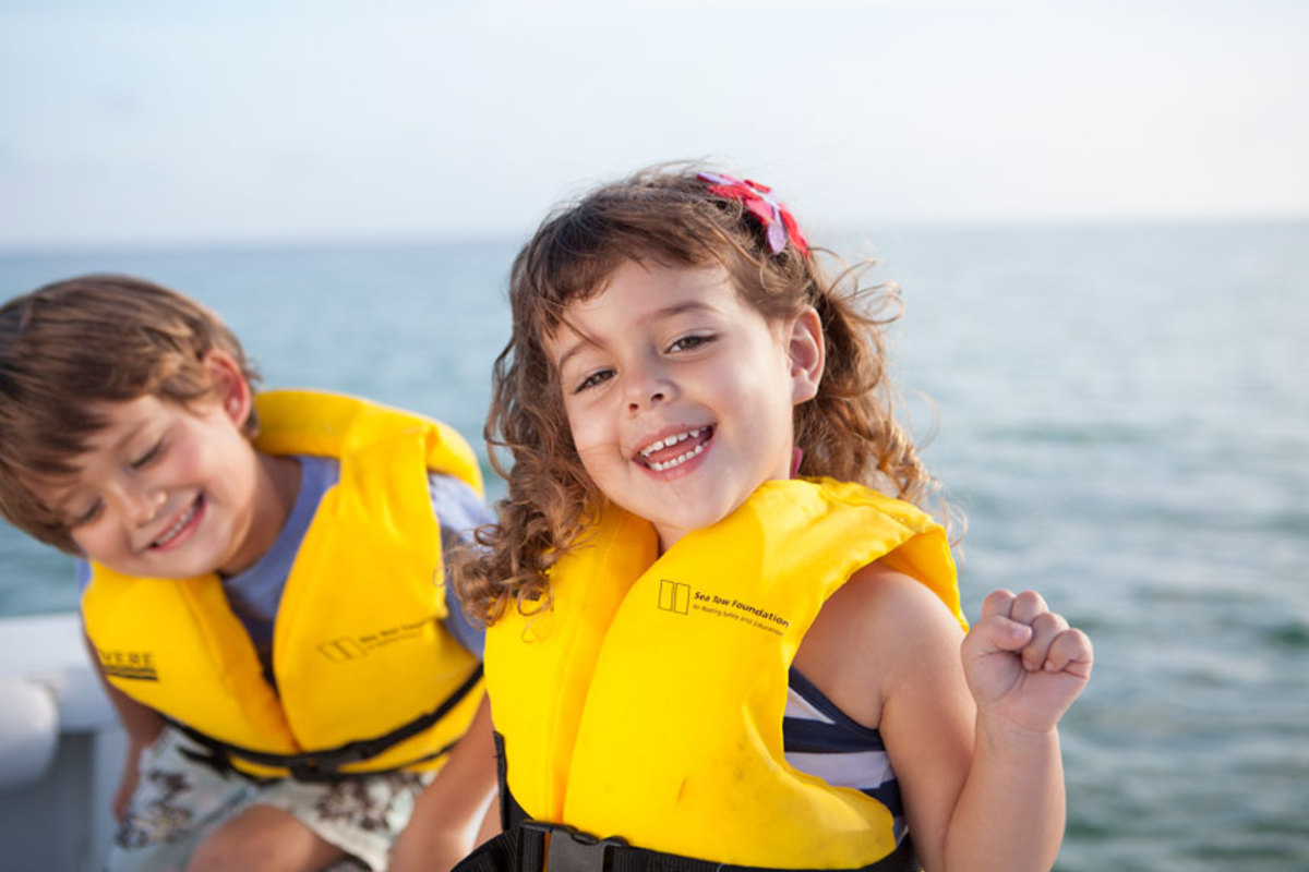 The  Sea  Tow  Foundation's  life  jacket  loaner  program  was  developed  to  make  sure  that  kids  stay  safe  on  the  water.