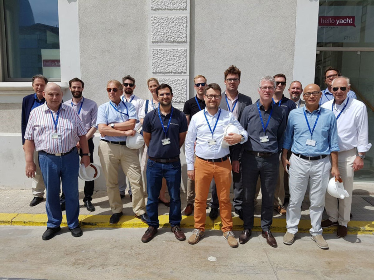 Members of the ISO TC8 SC12 met to discuss technology of yachts measuring more than 78 feet long.