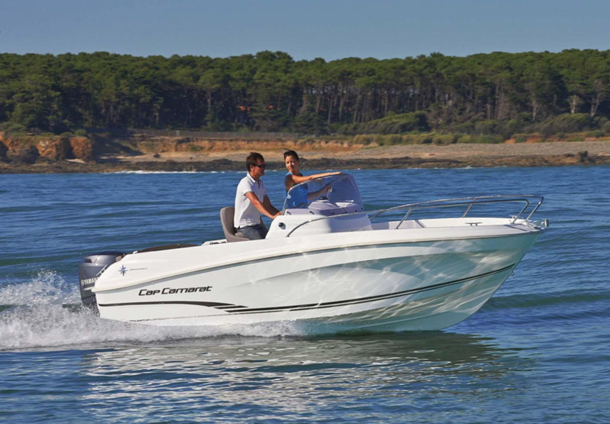 Imported boats, like this Jeanneau Cap Camerat 5.5, outpaced U.S.-built boats being exported overseas in 2017.
