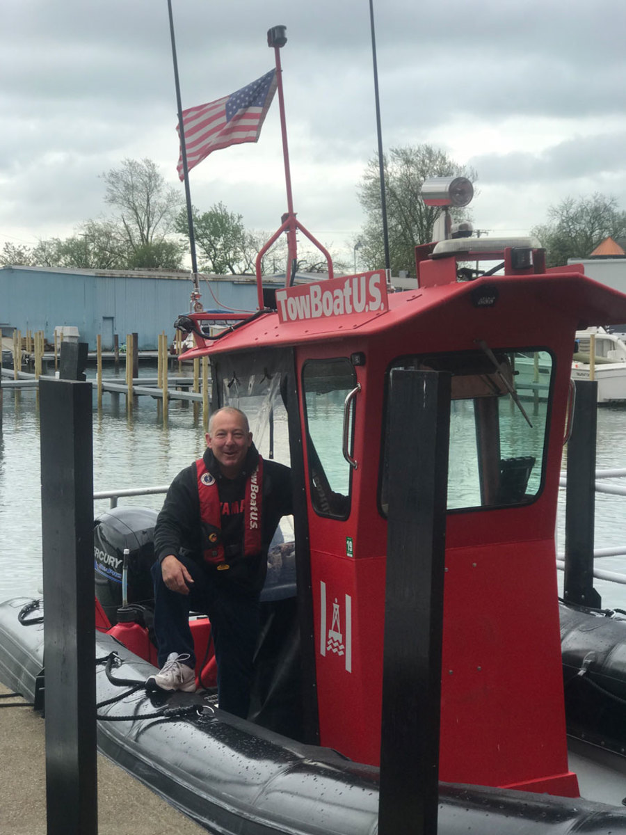 Capt. Jeff Pidcock is ready to help Detroit-area boaters.