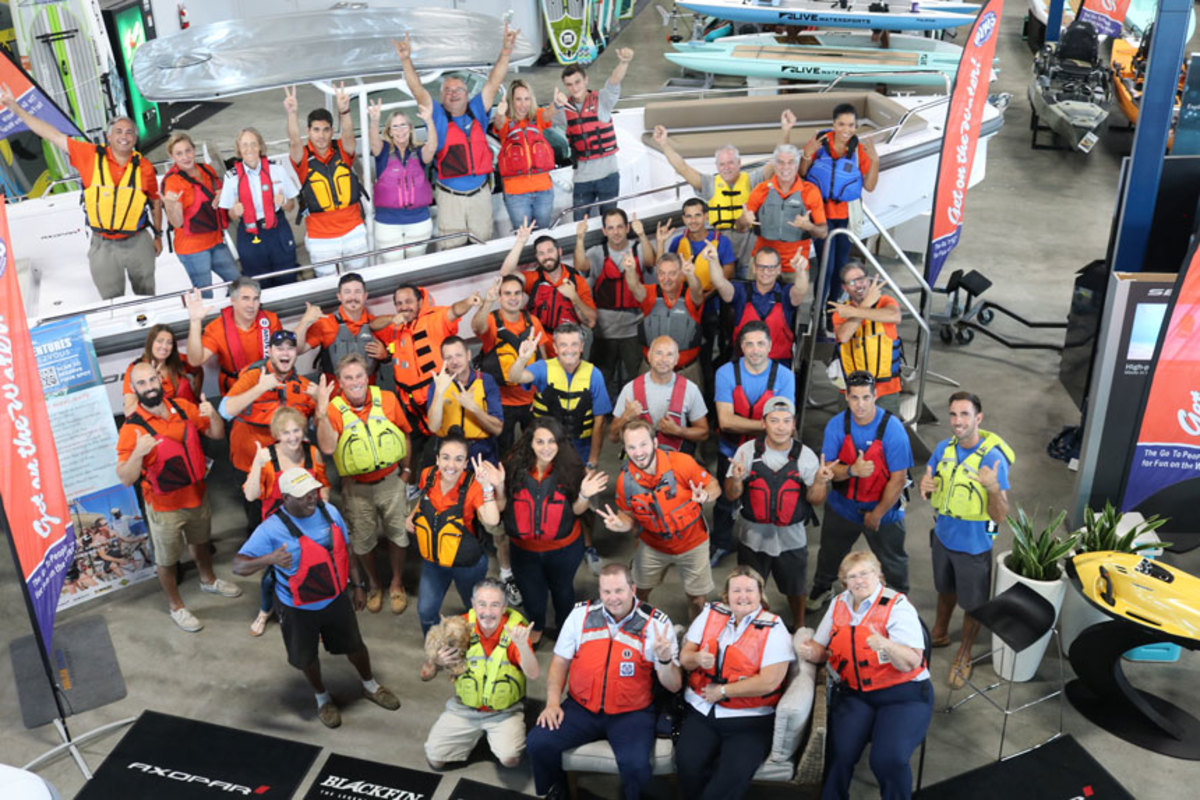 Companies will wear PFDs to work in support of National Safe Boating Week.