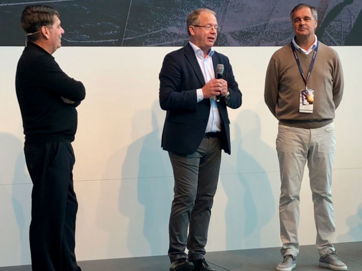 Volvo Group CEO discussed his meeting with President Trump in Switzerland at the Volvo Ocean Race in Newport last weekend.
