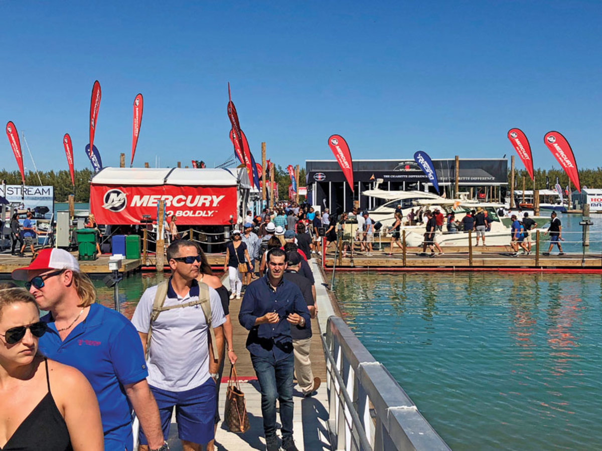 Crowds were consistently strong during the Progressive Miami International Boat Show in February.