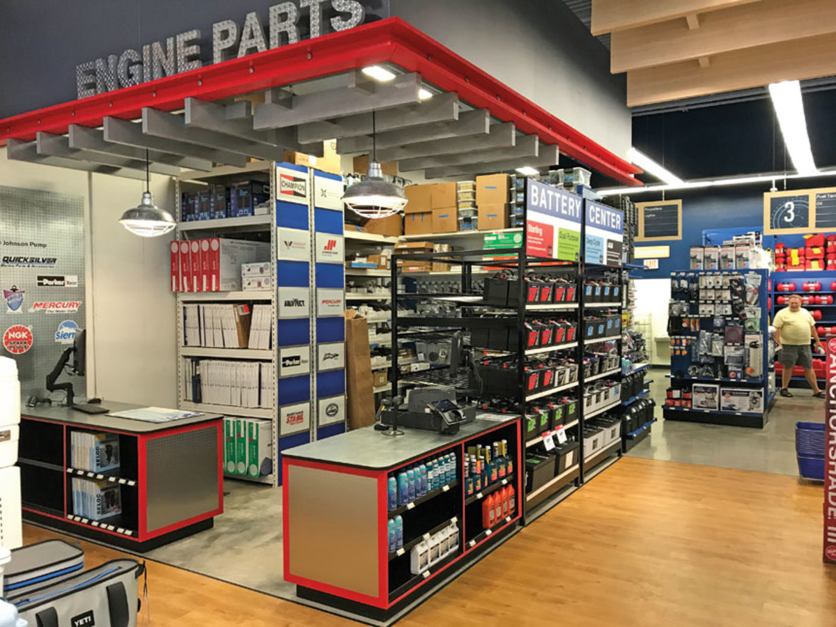 One of the goals with the reorganized West Marine is to have geographically specific parts in stores.